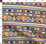 Peru, Kunsthandwerk, Südamerika, Multicolor Stoffe -