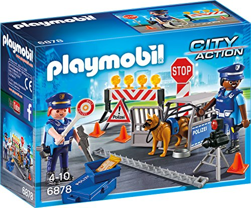 Preisvergleich Produktbild PLAYMOBIL 6878 - Polizei-Straßensperre