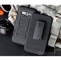 Galaxy Core 2 Funda, Cocomii Robot Armor NEW [Heavy Duty] Premium Belt Clip Holster Kickstand Shockproof Hard Bumper Shell [Military Defender] Full Body Dual Layer Rugged Cover Case Carcasa G355 (Black)