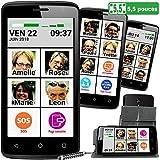 Mobiho-Essentiel Le SMART PHOTO CONTACT 5,5 pouces. L'interface...