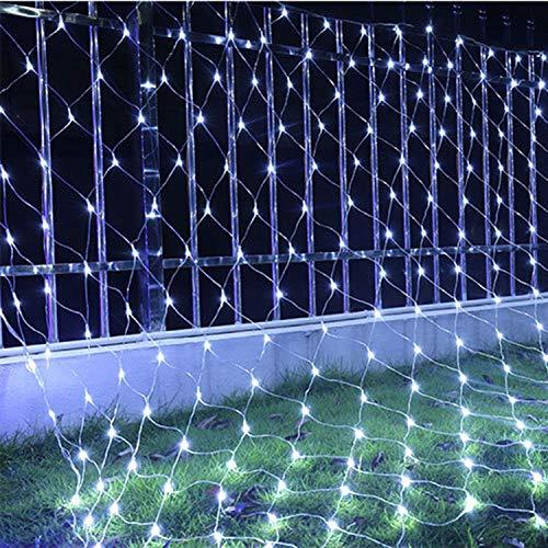 XCXDX Maille Filet Lumières 8 Modes Télécommande Imperméable 3M × 2M 320 LED Arbre De Cour Décor
