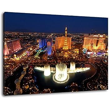 Las Vegas Skyline bei Nacht Format:120x80 cm Bild auf