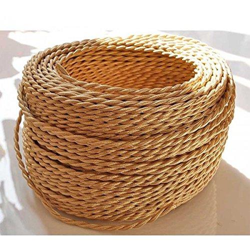 fil-electrique-tresse-de-couleur-paille-vintage-look-retro-en-tissu