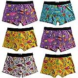 6er Pack Kids Jungen Boxershorts aus Baumwolle Shorts Steifen Unterhosen Gr.92 - 146
