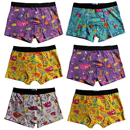 6er Pack Kids Jungen Boxershorts aus Baumwolle Shorts Unterhosen uni Gr. 92 – 146 Neu (128-134, TK038)
