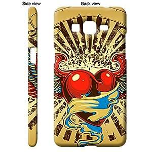 TheGiftKart Heart With Wings Retro Design Back Cover Case for Samsung Galaxy Grand Prime - Multicolor