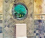 Pegatina de pared vinilo adhesivo ojo de buey peces efecto 3D decorativo para cuartos, salon,cuarto de juegos,dormitorio,cocina,sala de estar ... OPEN BUY