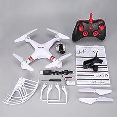 FPV Wifi Weitwinkel-1080p-Kamera Selfie RC Drone, Höhe Halten Headless Modus 3D-One Key Return Quadcopter Flips, für Luft Schießen (weiß)