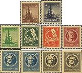 Prophila Collection Sowjetische Zone (All.Bes.) 92-99 (mit 98, 99 A+B) gemischte Gummisorten (kompl.Ausg.) 1945 Thüringen (Briefmarken für Sammler)