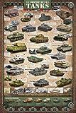 empireposter Educational - Bildung - History of Tanks - Größe (cm), ca. 61x91,5 - Poster, NEU - Text auf English