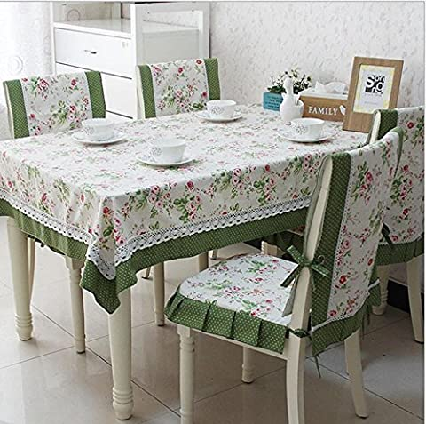 Tablecloth Fabric Home Rectangular Simple Cotton And Linen Dustproof Pastoral Style Classic Daily Necessities , 6 , 110*160cm