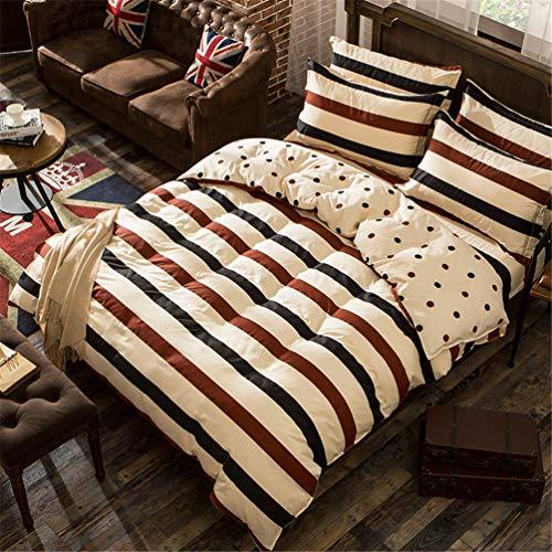 Bettbezug Set 100% Polyester Bettdecke Einfache geometrische Muster Quilt Bettwäsche Set mit Kissenbezügen ()