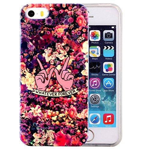 iPhone Case Cover Pour iPhone 5 & 5s & SE IMD Dreamy Dreamcatcher motif Blu-ray Soft TPU cas de protection ( SKU : IP5G5000D ) IP5G5000C