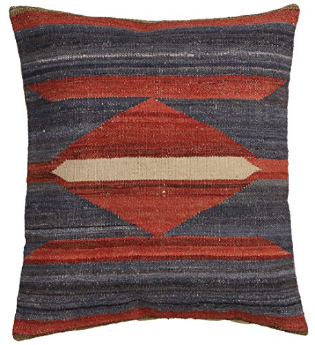 Vente, faite à la main authentique Kilim Housse de coussin Taie d'oreiller style vintage, 58 cm x 58 cm/55,9 cm/55,9 cm (1328) Liquidation de stock