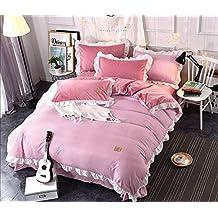 Color sólido rayas ropa de cama franela Adam Falbala dormitorio soporte de juego de sábanas de cama edredón conjunto 4piezas 1funda de edredón, 1sábana, 2funda de almohada, 011, 200x230cm