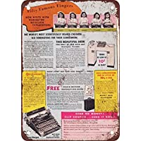 1940 Remington máquinas de escribir vintage look reproducción Metal Tin Sign ...