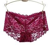 RRRRZ*il senso di trasparenza la biancheria intima femminile per la tentazione più grande non-marking Ms. lace underwear hip 3 di bassa altezza di pantaloni d'angolo ,M,un vino rosso