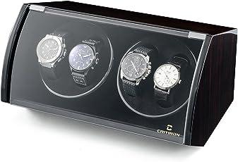 CRITIRON Coffret Watch Winder- Automatischer Uhrenbeweger aus Holz mit Schloss für Mehrere Uhren(4+6)