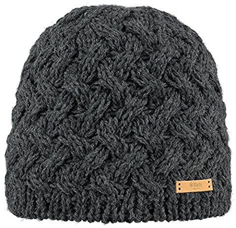 Barts Women's Swirlie Beanie - Hat - Grey (Dark Heather), One size (Manufacturer size: One Size)