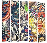 10 Stück gefälschte temporäre Tattoo Ärmel Körper Kunst Sonnenschutz Strümpfe Zubehör, Tribal, Drachen, Totenkopf Design, usw.