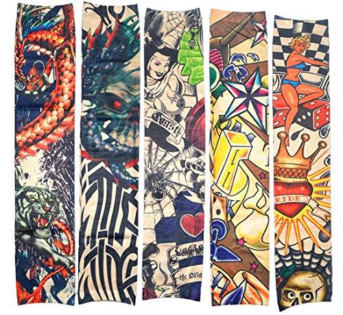 10 PC FalsoTatuajeTemporal Mangas Cuerpo Protector Solar de Arte...