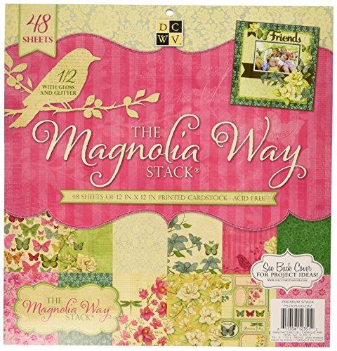Papier Stapel 12x 12Zoll diecuts Magnolia Garten Stack, 48Stück (Single Ps 0,5)