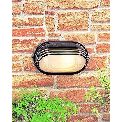 Outdoor bulkhead light amazon modern matt black aluminium outdoor surface mounted wall light bulkhead ip44 rated mozeypictures Choice Image