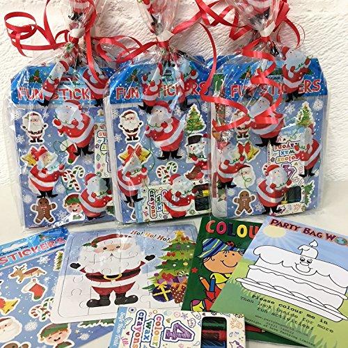 6x Kinder Weihnachten Party Taschen, Pre gefüllt Ready Made Unisex Weihnachten Goody Staubbeutel für Jungen und Mädchen