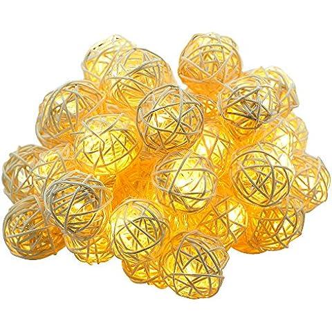 Dailyart® 13.8ft 40 Leds de luz cadena, en interiores, decorar para la Navidad, boda, Halloween, el día de San Valentín----operación de la batería (Blanco