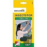 Schellenberg 50715 nylon horrengaas, muggen en insectengaas inclusief bevestigingstape, bevestiging zonder te boren, 130x150