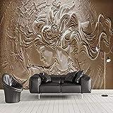 Wandgemälde Benutzerdefinierte Tapete Wandbilder 3D Stereoskopische Schönheit Zeichen Skulptur Fototapete Wohnzimmer Sofa Schlafzimmer Hintergrund Wandbild,60Cm(H)×120Cm(W)