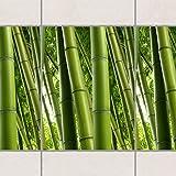 Fliesen Bordüre - Bamboo Trees No.1 20cm x 15cm, Setgröße:20teilig