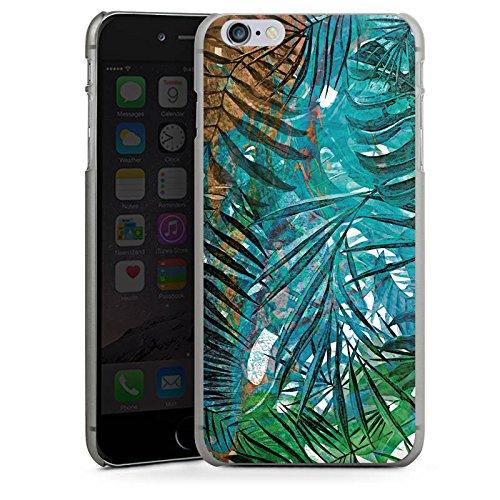 Apple iPhone X Silikon Hülle Case Schutzhülle Palmenblätter Dschungel Palme Hard Case anthrazit-klar