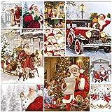 Stamperia/-/Carta di riso Stamperia Buon Natale con Babbo Natale 28/g//m2