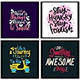 Webelkart Motivational/Funny Quote Wooden Photo Frame Poster for Wall, Office, Study Room Decoration (10 x 10 Inches) -Set of