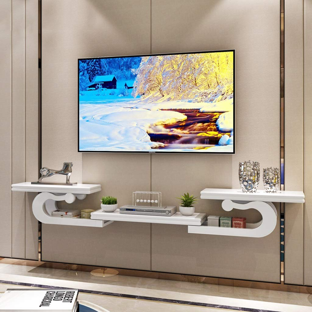 Meuble De Television Mural Etagere Murale Etagere Flottante Console Multimedia Meuble Tv Presentoir Multifonctionnel Deco Royale