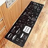 AZUO3 Blöcke Zum Verkauf Cartoon Japanischen Stil Haushalts Bekleidung Resistente Rutschfeste Fußpolster Haushalt Wasserdicht Öl Proof Streifen Leder Küche Bodenmatte,B,S