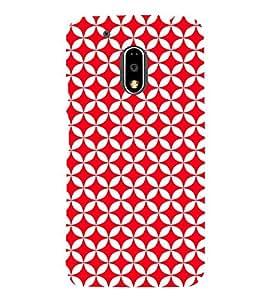 Red Circular Triangles 3D Hard Polycarbonate Designer Back Case Cover for Motorola Moto G4 :: Motorola Moto G (4th Gen)