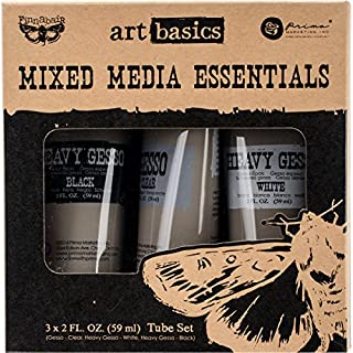 Prima Marketing Finnabair Art Basics Mixed Media Essentials, Multi-Colour, 13.99 x 13.58 x 5.2 cm