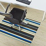Design Bodenschutzmatte Ravenna in 6 Größen | dekorative Unterlegmatte für Bürostühle oder Sportgeräte (200 x 180 cm)