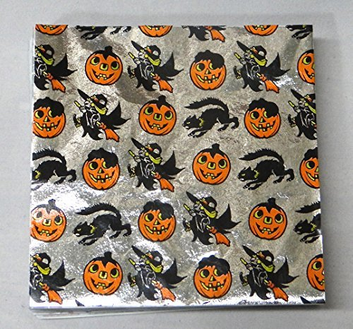 Halloween Print 4 x 4 Confectionery Foil Wrappers Candy Wrappers Candy Making Supplies by Foil Wrappers (Für Halloween Candy Wrapper)
