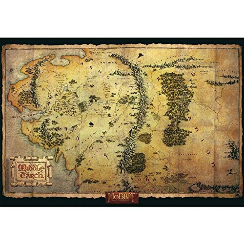 ABYstyle ABYDCO236 - Poster Der Hobbit, Mittelerde Karte