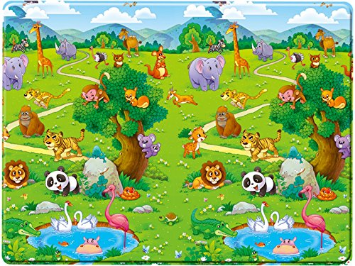 Bieco 95000000 - Baby Spielmatte Schaumstoff, ca. 180 x 120 x 1,20 cm
