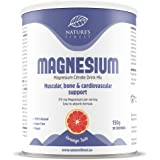 Nature's Finest Bebida de magnesio 150g | Citrato de magnesio en polvo de alta absorción totalmente natural | Apto para veget