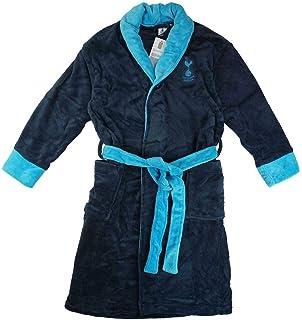 Tottenham Hotspur FC Official Football Boys Hooded Fleece Dressing Gown Robe