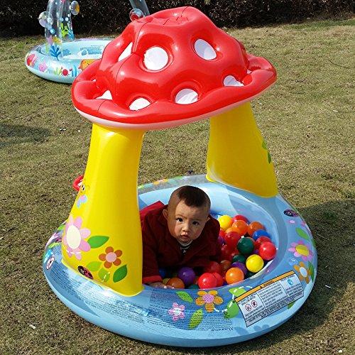 Congrouy Für Kinder Aufblasbare Pool, Pilz, Sonnenschutz,