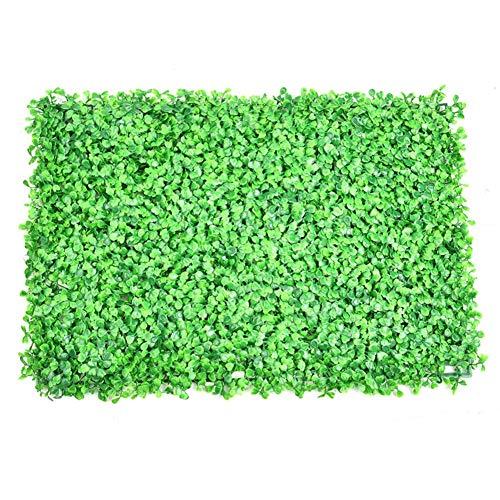 Funihut Künstliche Hecke Panel Pflanze Faux Grün Privatsphäre Schirme Kunststoff Hecke Hintergrund Grün Matte Gefälschte Zaun Gitter Wand Dekor (Wand-dekor Zaun)