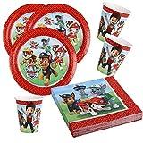 Paw Patrol / Patrulla Canina - set decoración fiesta - 36 piezas - Para 8 personas