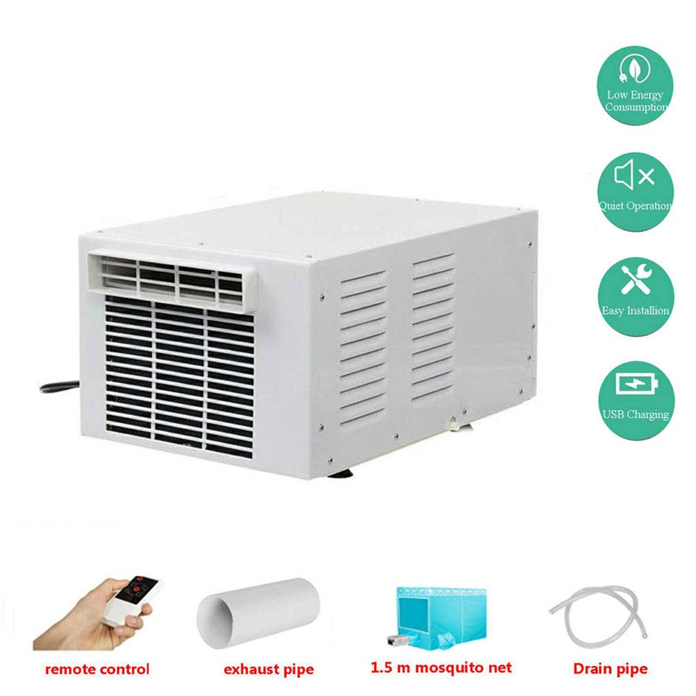 WSN Mobile Air Conditioning,Kompaktfernbedienung Moskitonetz mit Fenster 220V, weiß (950 BTU)