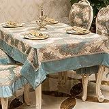 fwerq Europäische high-end Tischdecken Luxus-qualität Tischdecke Tischdecke Couchtisch TV-Standfuß zurück gezogen - ein 130 x 130 cm (51 x 51 Zoll)
